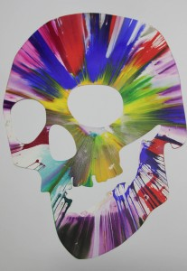 Scull Spin Painting