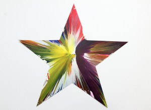 Damien Hirst Star Spin Painting