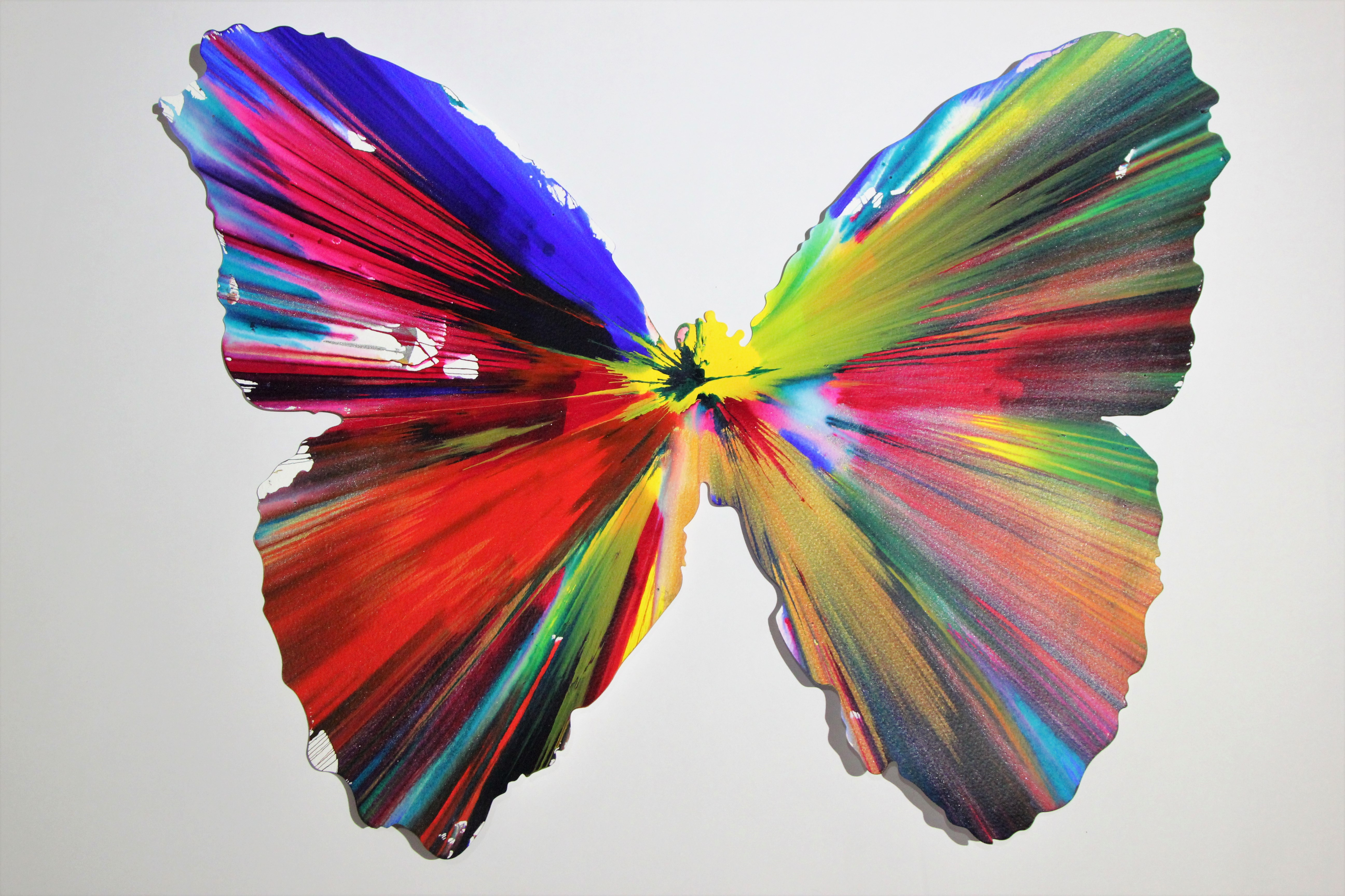 Damien Hirst Butterfly Spin Painting